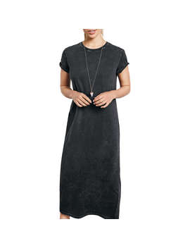 Hush Jamie Cotton T Shirt Dress, Washed Black, Washed Black by Hush