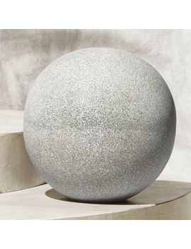 Playa Grey Large Terrazzo Ball by Crate&Barrel