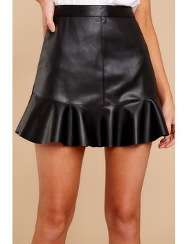 Passion For It Black Leather Skirt by Bb Dakota