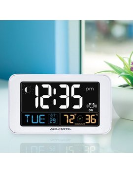 Intelli Time Clock With Indoor Temperature And Usb Charger by Acu Rite