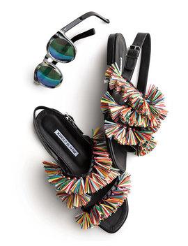 Leonard Ii Round Sunglasses, Horn/Black/Green by Illesteva