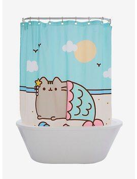 Pusheen Mermaid Shower Curtain by Hot Topic