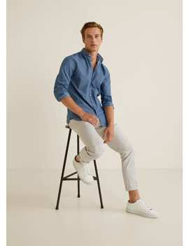 Structured Cotton Regular Fit Shirt by Mango