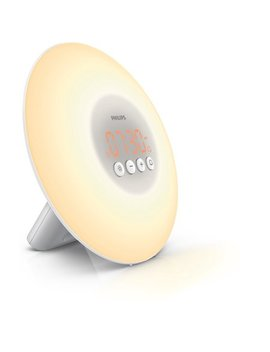 Philips Wake Up Light With Sunrise Simulation Alarm Clock, White Hf3500/60 by Philips