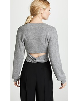 Twist Back Cropped Sweater by T By Alexander Wang