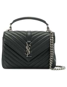 Saint Laurent Black College Medium Leather Shoulder Baghome Women Saint Laurent Bags Shoulder Bags by Saint Laurent