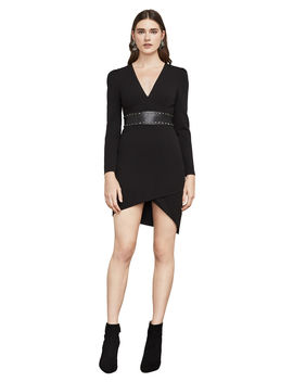 Natalea Asymmetrical Open Back Dress by Bcbgmaxazria