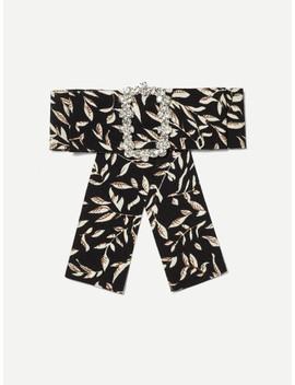 Leaf Print Bow Tie Pin by Sheinside