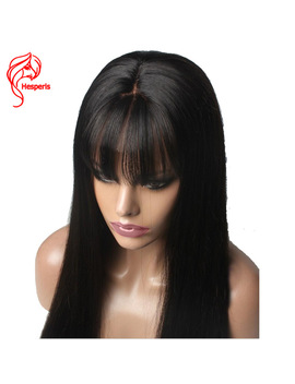 Hesperis Human Hair Lace Front Wig With Bang Silk Straight Brazilian Remy Hair  Deep Part 13 X6 Lace Front Wigs Pre Plucked by Hesperis