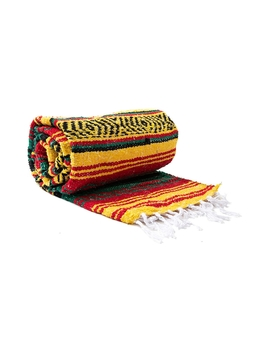 Rasta Stripe Throw Baja Blanket by Read Reviews