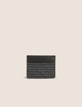 Allover Logo Print Cardcase by Armani Exchange