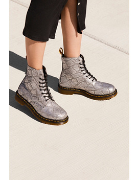 Dr. Martens Pascal Silver Lace Up Boot by Free People