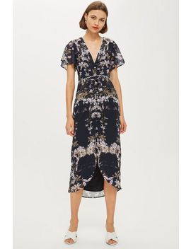**Mirror Print Floral Pencil Dress By Hope & Ivy by Topshop