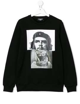 Che Guevarius Hybrid Print Sweatshirt by Neil Barrett Kids