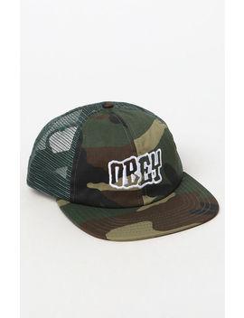 Runnin Snapback Trucker Hat by Obey