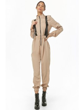Buckle Strap Jumpsuit by Forever 21