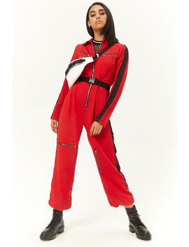 Zip Front Utility Jumpsuit by Forever 21