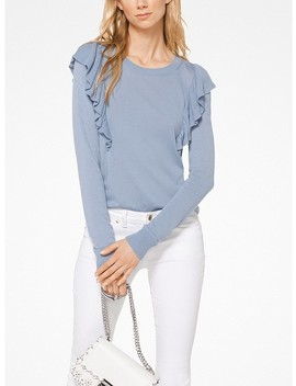 Ruffled Viscose Blend Pullover by Michael Michael Kors