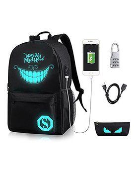 Gaoag Laptop Backpack With Usb Headphone Port Fits 15.6 Inch Anti Theft Waterproof Day Backpack Password Lock Oxford College Book Bag … by Gaoag