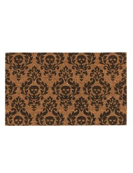 Mini Skull Doormat by Pottery Barn