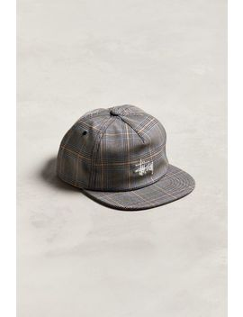 Stussy Glen Plaid Snapback Hat by Stussy
