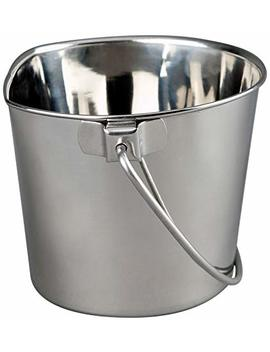 Advance Pet Products Heavy Stainless Steel Flat Side Bucket by Advance Pet Products