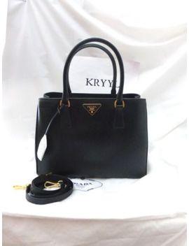 Nwt Prada Saffiano Lux Center Zip Tote Shoulder Bag Handbag, Bn1874, Black by Prada