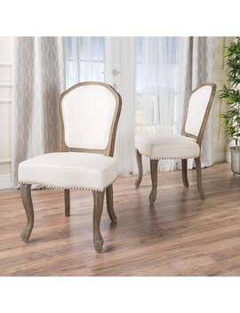 Godfrey Fabric Dining Chair (Set Of 2) By Christopher Knight Home by Christopher Knight Home