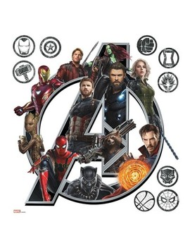 Room Mates Marvel Avengers Infinity War Logo Peel And Stick Wall Decal Single Sheet by Shop All Room Mates