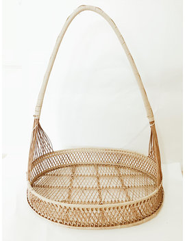 Large Rattan Basket. by Themooncabin