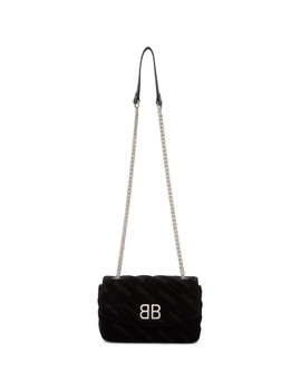 Black Velvet Bb Chain Wallet by Balenciaga