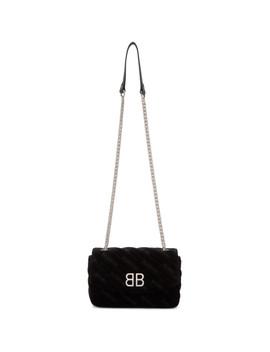 Black Velvet Bb Chain Wallet by Balenciaga