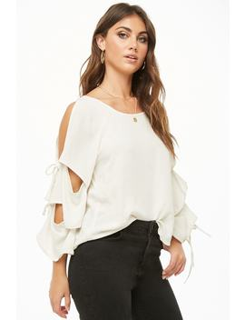 Open Shoulder Tiered Sleeve Top by Forever 21
