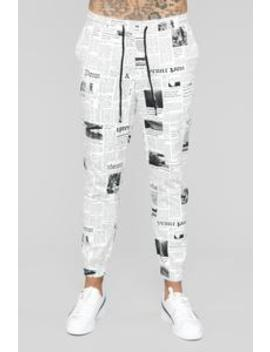 Tribune Joggers   Black/White by Fashion Nova