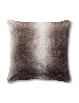 Neutral Faux Fur Euro Pillow   Fieldcrest® by Shop This Collection
