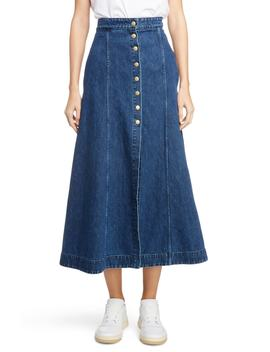 snap-front-denim-skirt by acne-studios