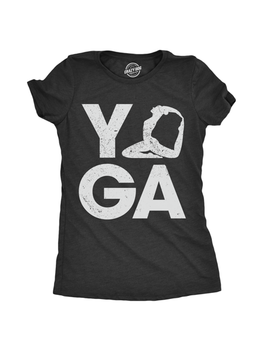 Crazy Dog T Shirts   Womens Yoga Pose Tshirt Cute Adorable Fitness Flexibility Tee For Ladies by Crazy Dog T Shirts