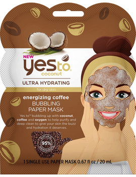Coconut & Coffee Bubbling Paper Mask by Yes To
