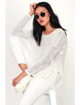 Harbour Bay White Knit Sweater by Lulu's