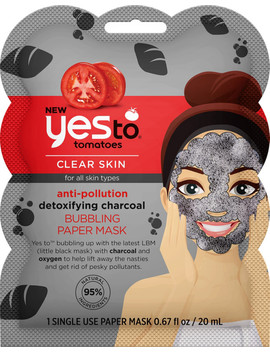 Tomatoes Charcoal Bubbling Paper Mask by Yes To