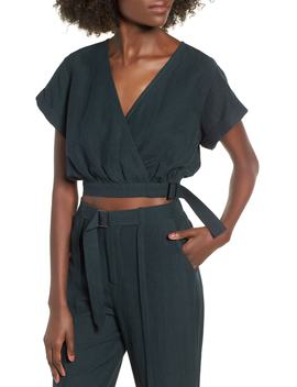 Surplice Crop Top by Moon River
