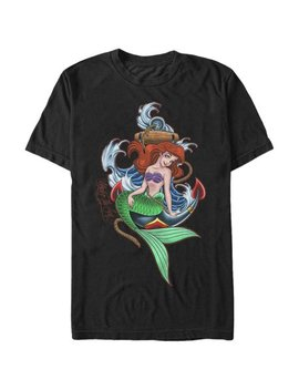 The Little Mermaid Men's Ariel Anchor T Shirt by The Little Mermaid