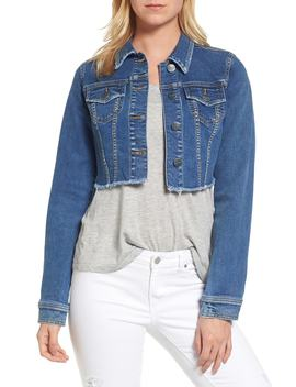 Fray Crop Jacket by Slink Jeans