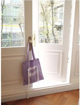 Merci Linen Eco Bag Purple by Heysis