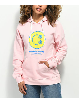Empyre Fredia Smile Face Pink Hoodie by Empyre