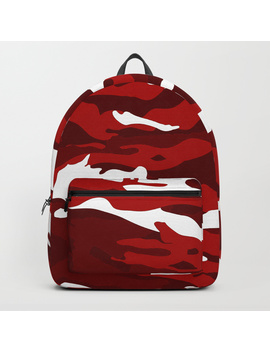 Red Camo Backpack by