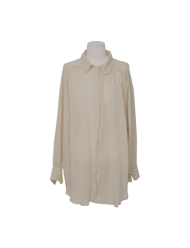 Lace Trimmed Collar Shirt Only The Color Beige Will Be Delivered From 3rd Sep. Along With Your Purchase Order!! by Stylenanda