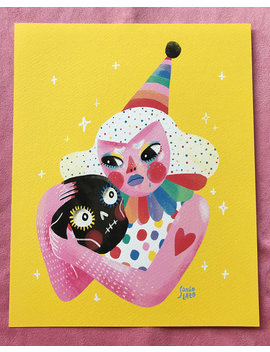 Sad Clown   Print by Sonia Lazo Illustrator