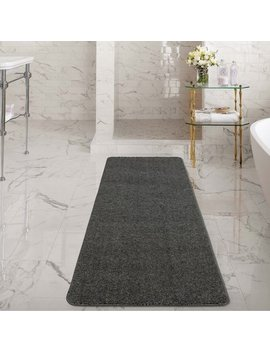 Ottomanson Luxury Collection Solid Shag Area Rugs And Runners With Non Slip Rubber Backing Kitchen And Bathroom Flooring Various Sizes And Colors by Ottomanson