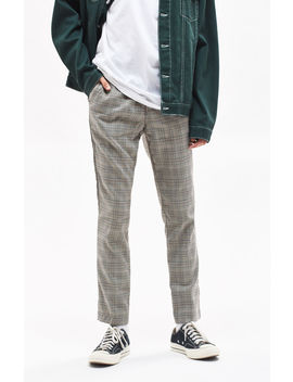 Skinny Trouser Gray Plaid Pants by Pac Sun